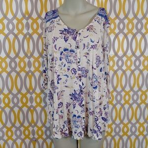 Lucky Brand Tops - LUCKY BRAND Top Plus Size 1X Button Front
